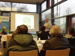 Detlef Schliffke bei einem Vortag am Katholischen Klinikum Essen